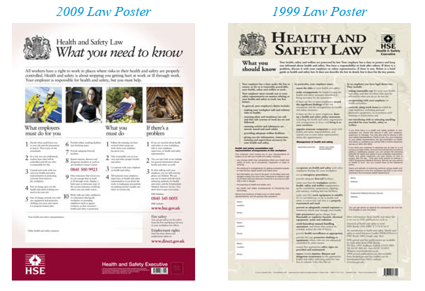 Health and Safety 2009 and 1999 Law Posters
